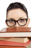 Student with glasses Royalty Free Stock Photos