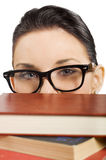 Student with glasses Royalty Free Stock Photo