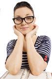 Student with glasses Stock Photo