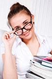Student in glasses Stock Image