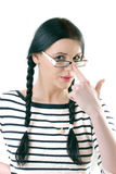 Student with glasses Royalty Free Stock Image