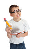 Student with glasses geek Royalty Free Stock Image