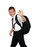 Student goes to school Royalty Free Stock Image