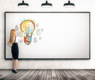 Student with good idea Royalty Free Stock Photos