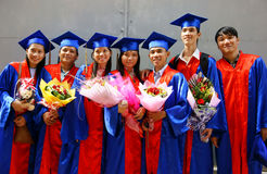 Student in gown, university graduate ceremony Stock Image