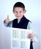 Student with A grade Stock Photography