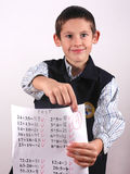 Student with A grade Royalty Free Stock Photos