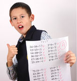 Student with A grade Royalty Free Stock Images