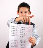 Student with A grade Stock Photo