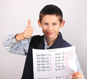 Student with A grade Royalty Free Stock Photography