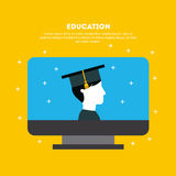 Student graduate flat Stock Image
