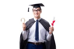 The student graduate isolated on white background. Student graduate isolated on white background Royalty Free Stock Photos