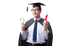 The student graduate isolated on white background. Student graduate isolated on white background Stock Photos