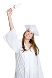 Student Graduating. Excited isolated student graduating school Stock Photography