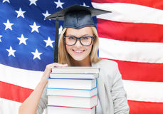 Student in graduation cap Stock Image
