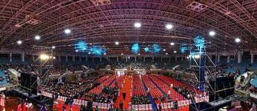 Student Graduation Ceremony in Taiwan stock image