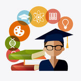 Student graduation design Stock Photo