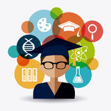 Student graduation design Royalty Free Stock Image