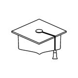 Student Graduation hat. Icon  illustration graphic design Royalty Free Stock Images