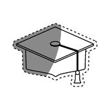 Student Graduation hat. Icon  illustration graphic design Royalty Free Stock Photo
