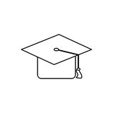 Student graduation hat. Icon  illustration graphic design Stock Photography