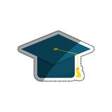 Student graduation hat. Icon  illustration graphic design Royalty Free Stock Photography