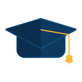 Student graduation hat. Icon vector illustration graphic design Royalty Free Stock Photos