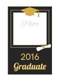 Student 2016 graduation photo frame. Stock Image