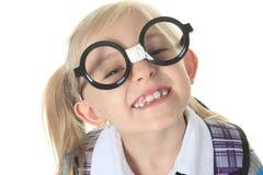 Student große Gläser Lizenzfreies Stockbild