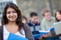 Student with a group Stock Photos