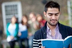 Student with a group Stock Image
