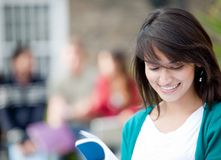 Student with a group Stock Photography