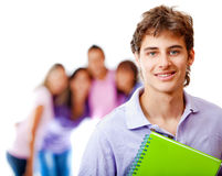Student with a group Royalty Free Stock Photo