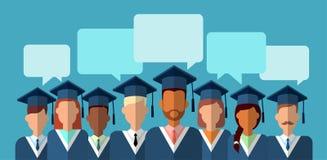 Student Group Graduation Gown stock illustrationer