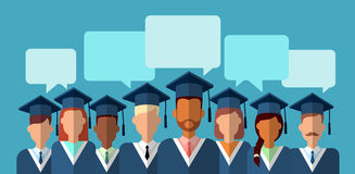 Student Group Graduation Gown Stock Image