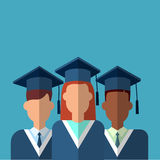 Student Group Graduation Gown Royalty Free Stock Images