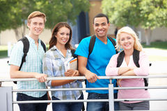Student group outdoors Royalty Free Stock Images