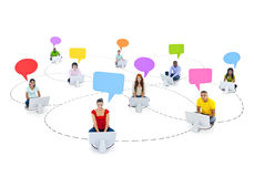 Student Group with Social Communication Concept Royalty Free Stock Photos