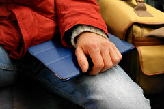 Tablet in hand Royalty Free Stock Photo