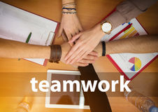 Student hands as teamwork Royalty Free Stock Image