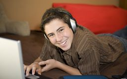 Student happy and studying Royalty Free Stock Images