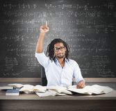Student has the solution Stock Image