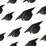 Student hat background Stock Image