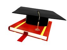 Student Hat Isolated On White Royalty Free Stock Image