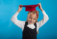 A student with a hat Royalty Free Stock Image