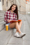 Student having a coffee break Stock Photography