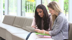 Student-Having Meeting With-Tutor To Discuss Work stock footage