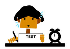 Student having a test Royalty Free Stock Photo
