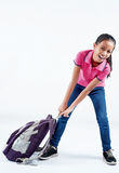 Student with heavy bag Royalty Free Stock Photo