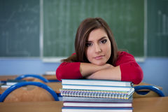 Student with her books Stock Images